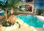piscine intérieure chauffée avec nage à contre courant .