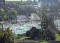 vue des chambres sur le port de plaisance