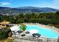piscine avec vue panoramique sur les collines de Cabris et Grasse