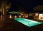 Vue nuit piscine