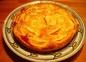 Tarte aux pommes sur crème d'amandes